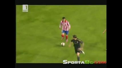Атлетико Мадрид 1 - 0 Ливърпул 1/2 - Финал Лига Европа (22.04.2010)