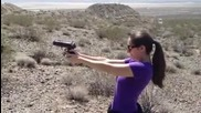 My girlfriend shoots a 9mm for the first time...