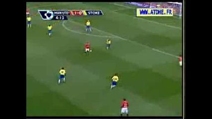 C.ronaldo Free Kick Vs Stoke City 15.11.08