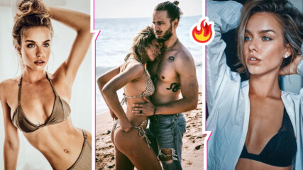 Секси дупе: Красивата Сара на Папи Ханс показа уникални форми на плажа