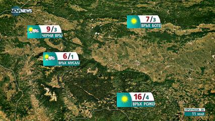 Прогноза за времето на NOVA NEWS (11.05.2021 - 10:00)