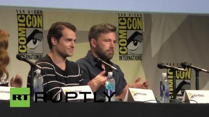 USA: Ben Affleck and Henry Cavill talk Batman v Superman: Dawn of Justice