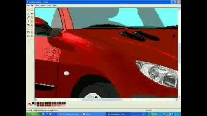 Да нарисуваш Peugeot 206 на MS Paint