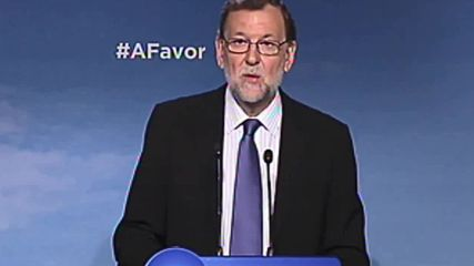 Spain: PM Rajoy hails election results during press conference in Madrid