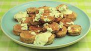 Тиквени сандвичи с топено сирене