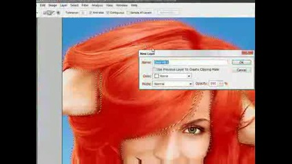 Смяна на цвета на косата - Photoshop Cs3 +voice English