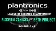 Biskvitki Zakuska vs beth Project - Plantronics LoL Championship #4