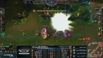 Iem Sao Paulo: Ocelote World vs. Furious Gaming четвъртфинал