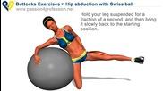 Упражнение за външната част на бедрения мускул с топка Vbox7
