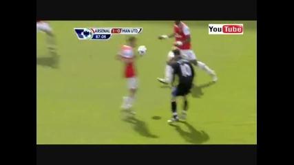 Неотсъдената дузпа срещу Майкъл Оуен! Arsenal - Manchester United