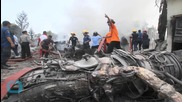 Indonesian Military Plane Crashes in Residential Area Killing at Least 20