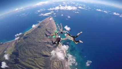 Невероятно скачане с парашут! - Skydive Hawaii