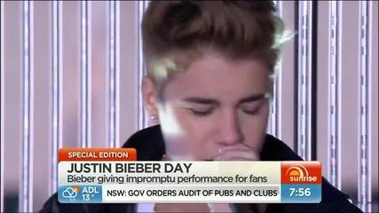 Невероятно!на живо Justin Bieber - Fall