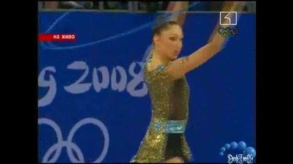 Изпълнението на Елизабет Паисиева с въже по художествена гимнастика 21.08.08