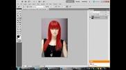 Смяна на цвета на косата с Photoshop