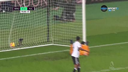 Уест Хем успя да вкара и трети гол във вратата на Фулъм