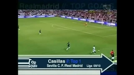 Top 10 saves Casillas
