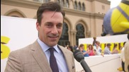 Jon Hamm And Little Yellow Friends At The 'Minions' Premiere