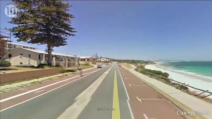 10- те най - странни неща, заснети в Google Street View