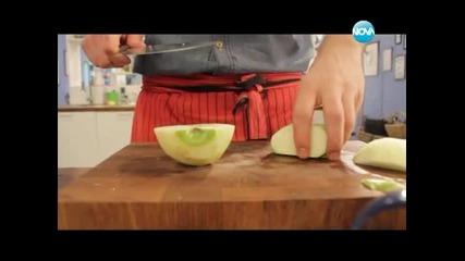 Солени бисквити, зелева салата с аншоа, свинско с праз - Бон апети (22.01.2013г.)