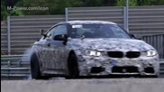 Bmw M4 Coupe and Bmw M3 Sedan ll Race driver test at Nurburgring Nordschleife.