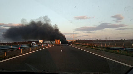 """От """"Моята новина"""": Инцидент на магистрала """"Тракия"""" близо до Бургас"""