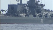 Syria: Media welcomed aboard Russian destroyer Vice-Admiral Kulakov in Latakia