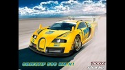 Уникално!бугати Jun Veyron (500км/ч) +много яка песничка ;)