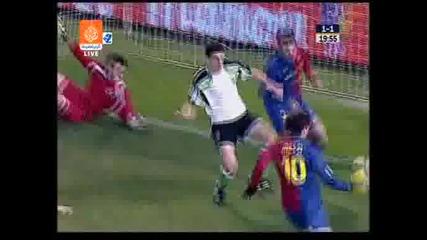 01.02 Сантандер - Барселона 1:2 Лео Меси Гол