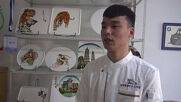 Delicious art! Chinese chef goes viral painting masterpieces with jam