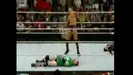 Randy Orton прави Rko на Wade Barret, Darren Young, Edge & Sheamus