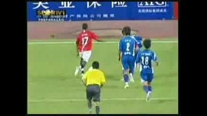 Guangzhou - Manchester United 0:2 Nani