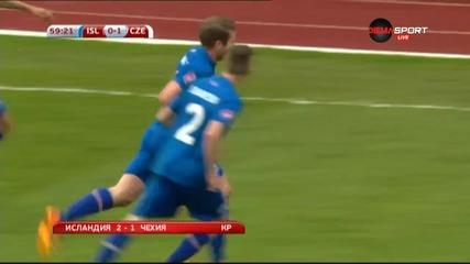 ВИДЕО: Исландия - Чехия 2:1