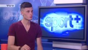 Защитникът на Славия Стефан Велков, гост в Спорт+ по Тв+