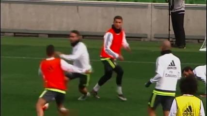 Тренировката на Реал Мадрид в Мелбърн
