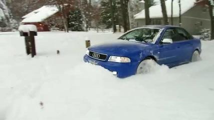 Много добър снегорин Audi s4 Quattro !