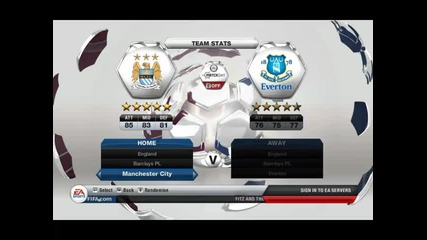 Fifa 13 Gameplay ( Full Mach ) Manchester City vs Manchester United