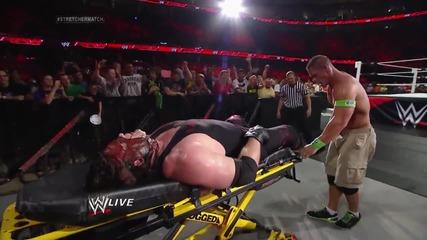 Джон Сина срещу Кейн - Мач с носилка, който победи ще се бие за титлите - Първична Сила,16 Юни,2014