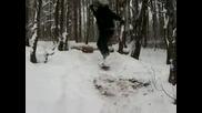 epic snowskate fail