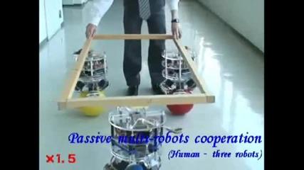 Робот балансира върху топка