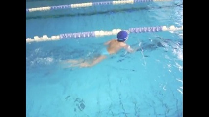 Marti swimming June 2010