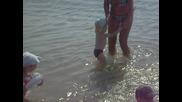 Преси за пръв път в морето