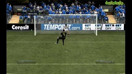 Fifa 12 ( Chelsea - Barcelona ) - дузпи !