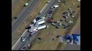 Верижна катастрофа на 100 автомобила в Тексас взе две жертви