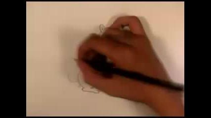 Рисуване на многооката катерица (от Семейство Симпсън Филмът)