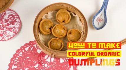 Celebrate Chinese New Year with orange vegan dumplings!