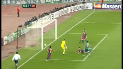 Panathinaikos v Barcelona Sky Highlights - football video 24.11.10