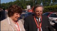 Фенове и близки почетоха паметта на Сена и Раценбергер