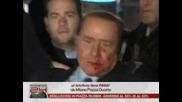 Сензационно !!! Разбиха физиономията на Берлускони
