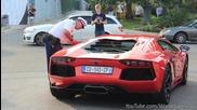 Полицай глобява собственик на Aventador,който не може да запали